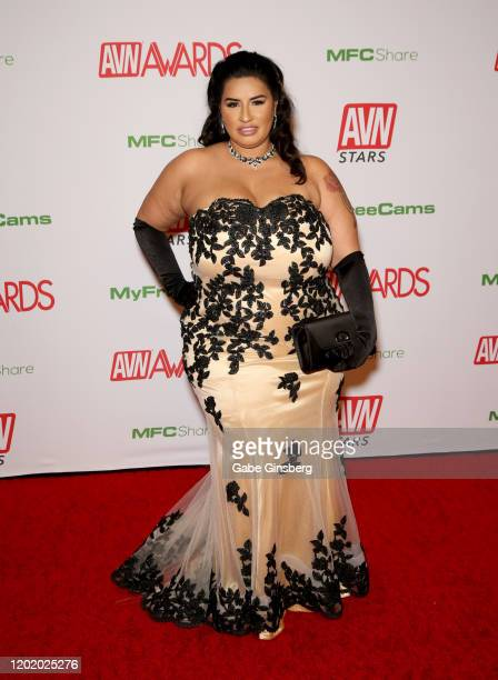 Adult film actress Sofia Rose attends the 2020 Adult Video News Awards at The Joint inside the Hard Rock Hotel Casino on January 25 2020 in Las Vegas...