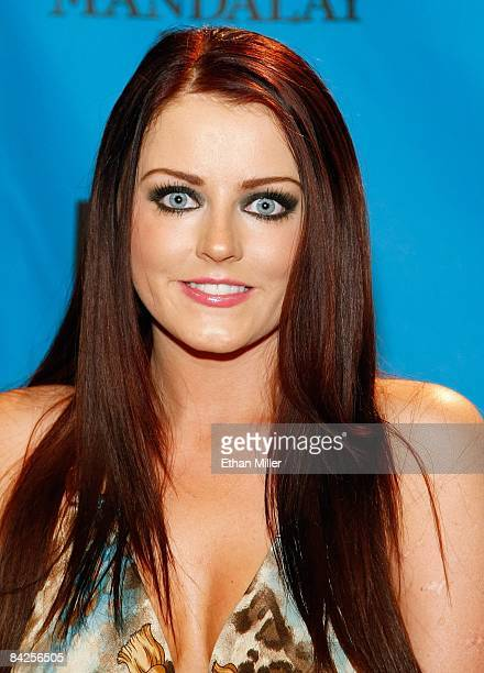 Adult film actress Sophie Dee arrives at the 26th annual Adult Video News Awards Show at the Mandalay Bay Events Center January 10 2009 in Las Vegas...