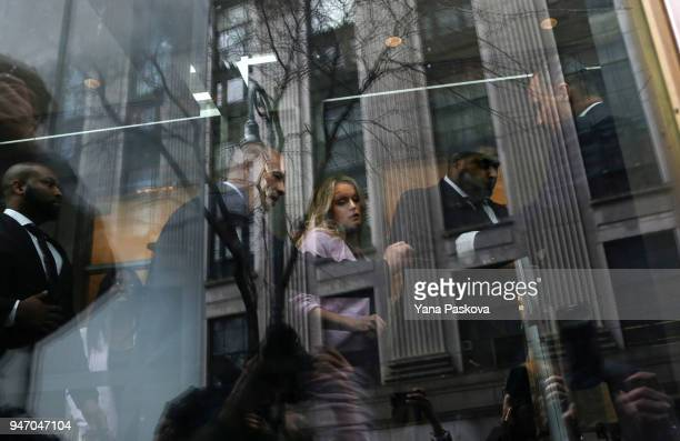 Adult film actress Stormy Daniels and her lawyer Michael Avenatti arrive at the United States District Court Southern District of New York for a...