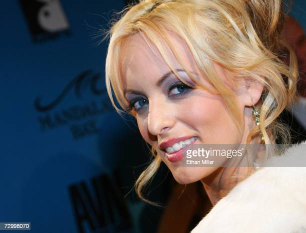Adult film actress Stormy Daniels arrives at the 24th annual Adult Video News Awards Show at the Mandalay Bay Events Center January 13 2007 in Las...