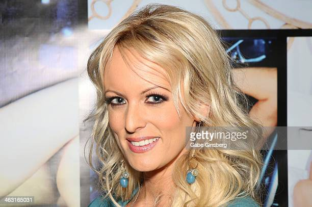 Adult film actress Stormy Daniels attends the 2014 AVN Adult Entertainment Expo at the Hard Rock Hotel Casino on January 16 2014 in Las Vegas Nevada