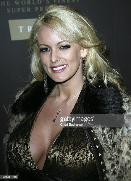 Adult film actress Stormy Daniels attends Trump Vodka launch party at Les Deux on January 17 2007 in Los Angeles California