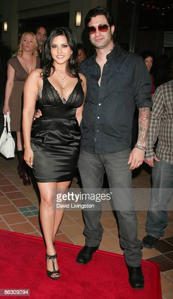 Adult film actress Sunny Leone and guest attend the premiere of the documentary Naked Ambition An R Rated Look at an X Rated Industry at Laemmle's...