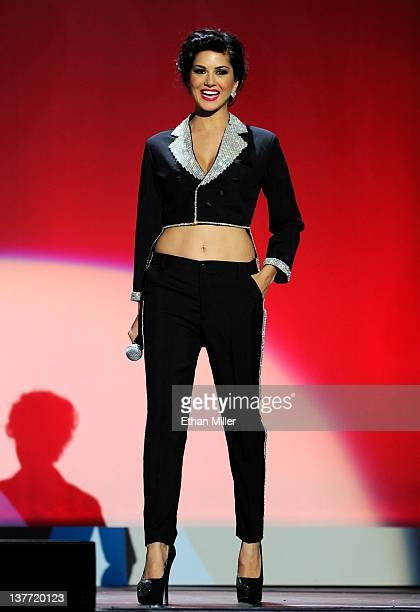 Adult film actress Sunny Leone hosts the 29th annual Adult Video News Awards Show at The Joint inside the Hard Rock Hotel Casino January 21 2012 in...