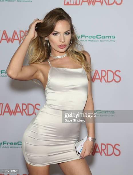 Adult film actress Sydney Cole attends the 2018 Adult Video News Awards at the Hard Rock Hotel Casino on January 27 2018 in Las Vegas Nevada