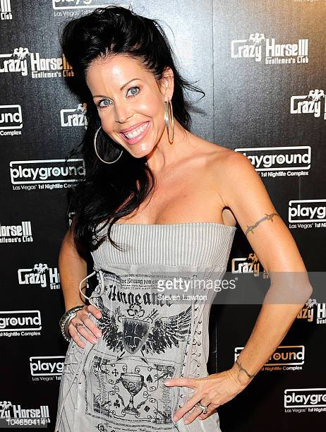 Adult film actress Tabitha Stevens arrives to celebrate 1 year anniversary of Crazyhorse III at Playground on October 1 2010 in Las Vegas Nevada