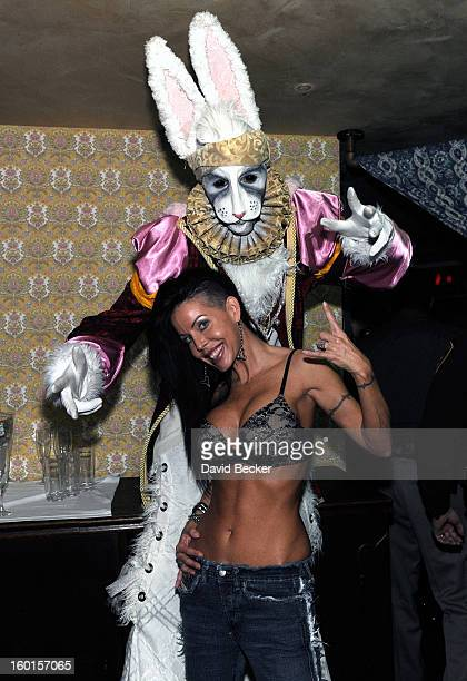 Adult film actress Tabitha Stevens attends the official Lady Gaga concert after party at The Act at The Palazzo on January 26 2013 in Las Vegas Nevada