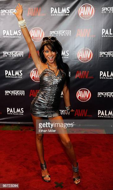 Adult film actress Tanner Mayes arrives at the 27th annual Adult Video News Awards Show at the Palms Casino Resort January 9 2010 in Las Vegas Nevada