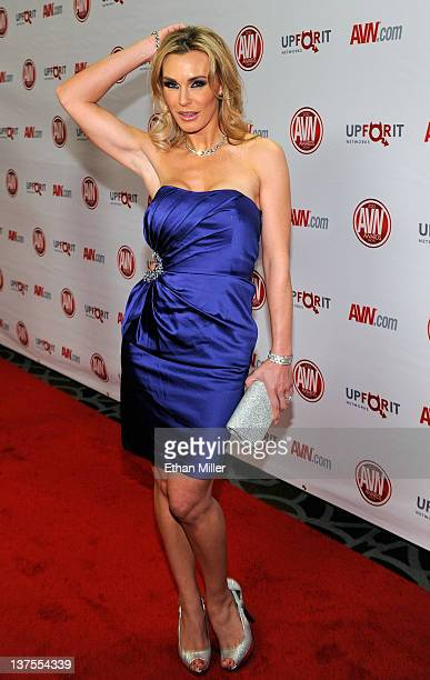 Adult film actress Tanya Tate arrives at the 29th annual Adult Video News Awards Show at the Hard Rock Hotel Casino January 21 2012 in Las Vegas...