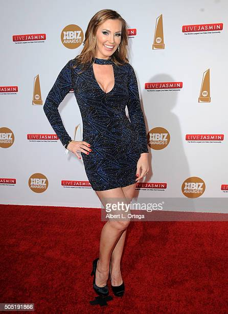 Adult film actress Tanya Tate arrives for the 2016 XBIZ Awards held at JW Marriott Los Angeles at LA LIVE on January 15 2016 in Los Angeles California