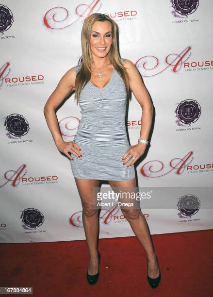 Adult film actress Tanya Tate arrives for the Premiere Of 'Aroused' held at Landmark Nuart Theatre on May 1 2013 in Los Angeles California