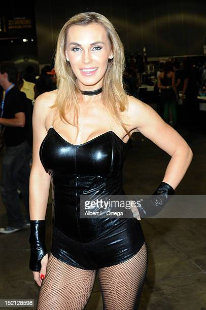Adult film actress Tanya Tate participates in Stan Lee's Comikaze Expo 2nd Annual Pop Culture Convention Day 1 held at The Los Angeles Convention...