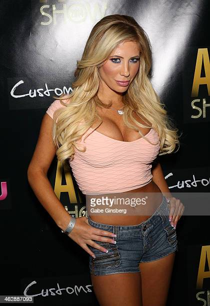 Adult film actress Tasha Reign attends the 2014 AVN Adult Entertainment Expo at the Hard Rock Hotel Casino on January 15 2014 in Las Vegas Nevada