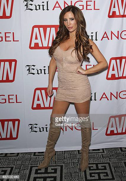 Adult film actress Tasha Reign attends the 2017 AVN Adult Entertainment Expo at the Hard Rock Hotel Casino on January 18 2017 in Las Vegas Nevada
