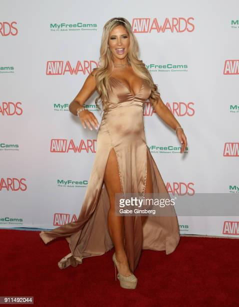 Adult Film Actress Tasha Reign Attends The 2018 Adult Video News Awards At The Hard Rock