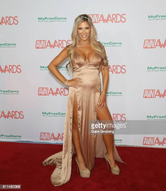 Adult film actress Tasha Reign attends the 2018 Adult Video News Awards at the Hard Rock Hotel Casino on January 27 2018 in Las Vegas Nevada