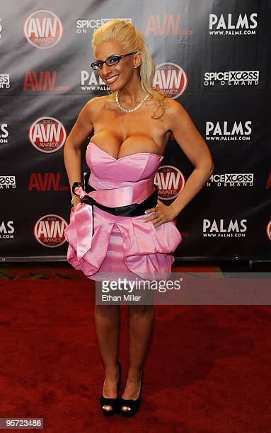 Adult film actress Taylor Stevens arrives at the 27th annual Adult Video News Awards Show at the Palms Casino Resort January 9 2010 in Las Vegas...