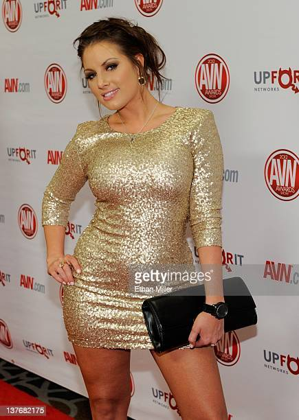 Adult film actress Teagan Presley arrives at the 29th annual Adult Video News Awards Show at the Hard Rock Hotel Casino January 21 2012 in Las Vegas...