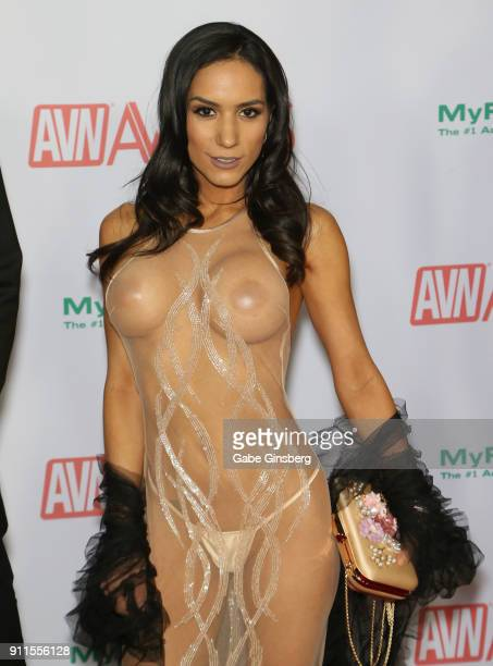 Adult film actress Tia Cyrus attends the 2018 Adult Video News Awards at the Hard Rock Hotel Casino on January 27 2018 in Las Vegas Nevada
