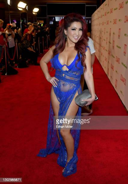 Adult film actress Tia Kai attends the 2020 Adult Video News Awards at The Joint inside the Hard Rock Hotel Casino on January 25 2020 in Las Vegas...