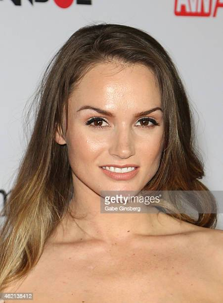 Adult film actress Tori Black arrives at the 2015 Adult Video News Awards at the Hard Rock Hotel Casino on January 24 2015 in Las Vegas Nevada