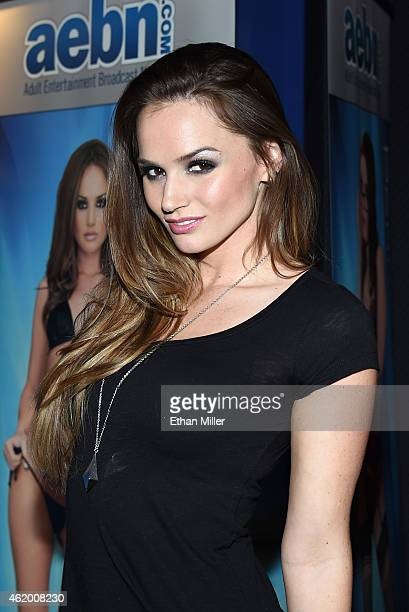 Adult film actress Tori Black attends the 2015 AVN Adult Entertainment Expo at The Joint inside the Hard Rock Hotel Casino on January 22 2015 in Las...