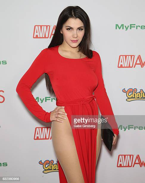 Adult film actress Valentina Nappi attends the 2017 Adult Video News Awards at the Hard Rock Hotel Casino on January 21 2017 in Las Vegas Nevada