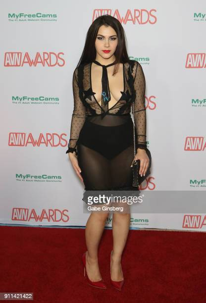 Adult film actress Valentina Nappi attends the 2018 Adult Video News Awards at the Hard Rock Hotel Casino on January 27 2018 in Las Vegas Nevada