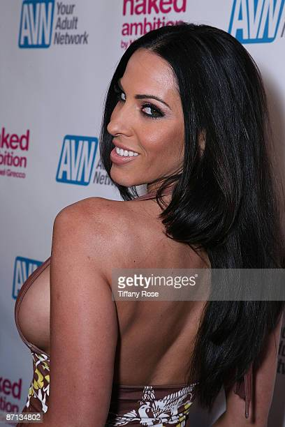 Adult film actress Veronica Rayne arrives at the Los Angeles premiere of 'Naked Ambition An R Rated Look At An X Rated Industry' at the Laemmle...