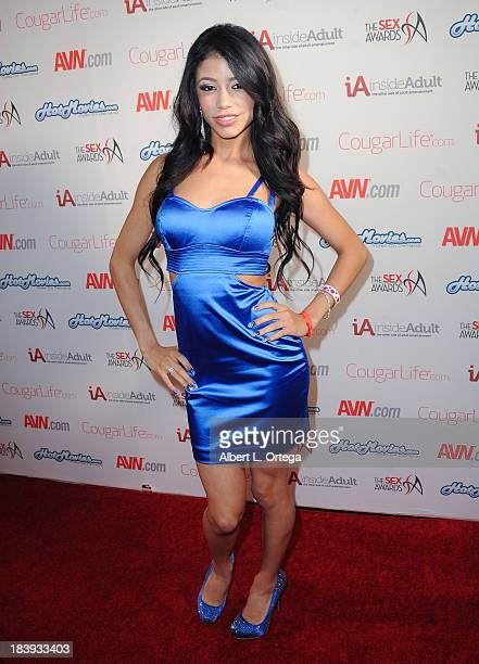 Adult film actress Veronica Rodriguez arrives for The 1st Annual Sex Awards 2013 held at Avalon on October 9 2013 in Hollywood California
