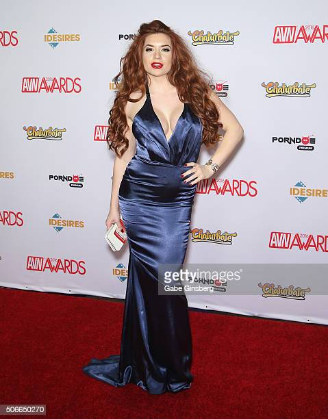 Adult film actress Veronica Vain attends the 2016 Adult Video News Awards at the Hard Rock Hotel Casino on January 23 2016 in Las Vegas Nevada