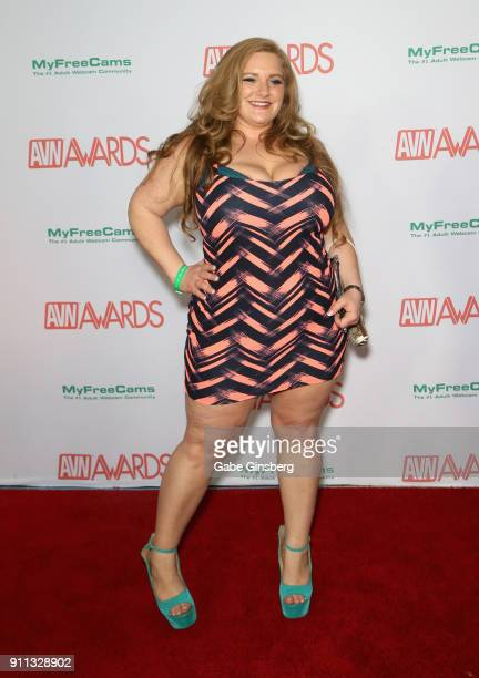 Adult film actress Veronica Vaughn attends the 2018 Adult Video News Awards at the Hard Rock Hotel Casino on January 27 2018 in Las Vegas Nevada