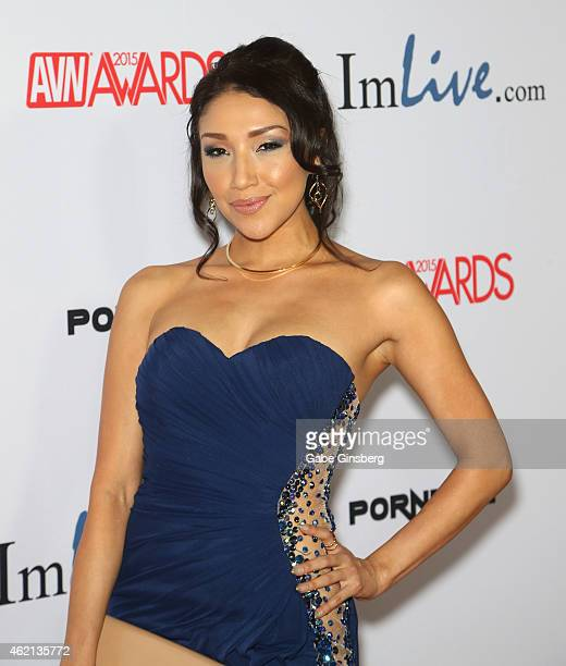 Adult Film Actress Vicki Chase Arrives At The 2015 Adult Video News Awards At The Hard