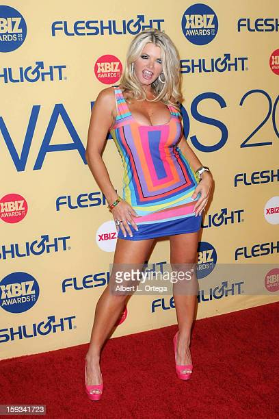 Adult Film actress Vicky Vette arrives for the 2013 XBIZ Awards held at the Hyatt Regency Century Plaza on January 11 2013 in Century City California