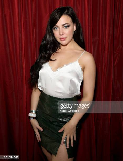 Adult film actress Whitney Wright poses during the 2020 AVN Adult Expo at the Hard Rock Hotel Casino on January 23 2020 in Las Vegas Nevada