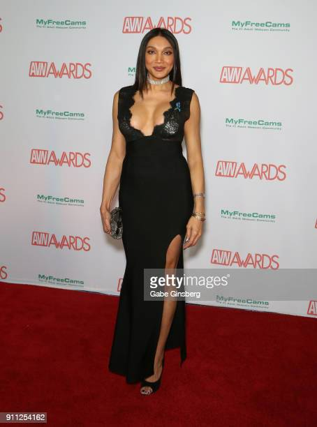 Adult film actress Yasmin Lee attends the 2018 Adult Video News Awards at the Hard Rock Hotel Casino on January 27 2018 in Las Vegas Nevada