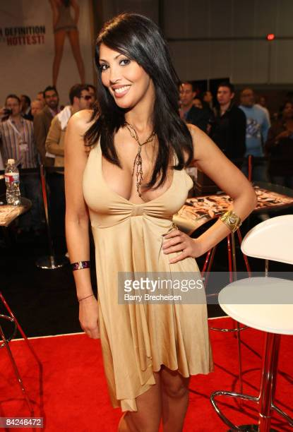 Adult film actress Yasmine attends day 2 of the 2009 AVN Adult Entertainment Expo at the Sand Expo Convention Center on January 10 2009 in Las Vegas...