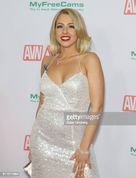 Adult film actress Zoey Monroe attends the 2018 Adult Video News Awards at the Hard Rock Hotel Casino on January 27 2018 in Las Vegas Nevada