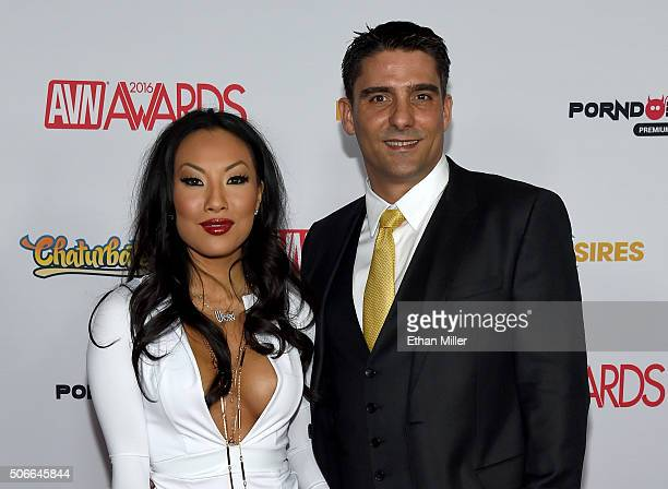 Adult film actress/director Asa Akira and adult film actor/director Tony Ribas attend the 2016 Adult Video News Awards at the Hard Rock Hotel Casino...