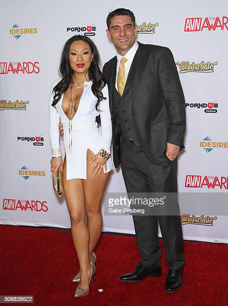 Adult film actress/director Asa Akira and adult film actor/director Tony Ribas attend the 2016 Adult Video News Awards at the Hard Rock Hotel &...