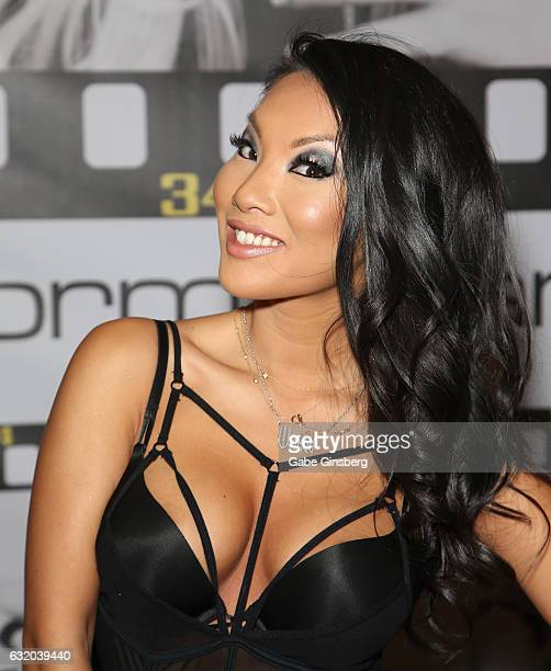 Adult film actress/director Asa Akira appears at the Wicked Pictures booth during the 2017 AVN Adult Entertainment Expo at the Hard Rock Hotel &...