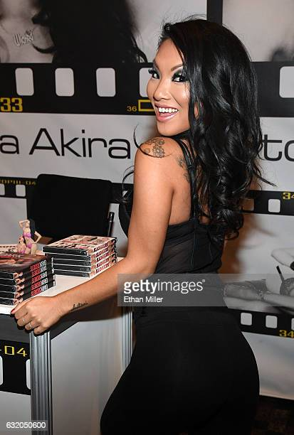 Adult film actress/director Asa Akira appears at the Wicked Pictures booth at the 2017 AVN Adult Entertainment Expo at the Hard Rock Hotel & Casino...