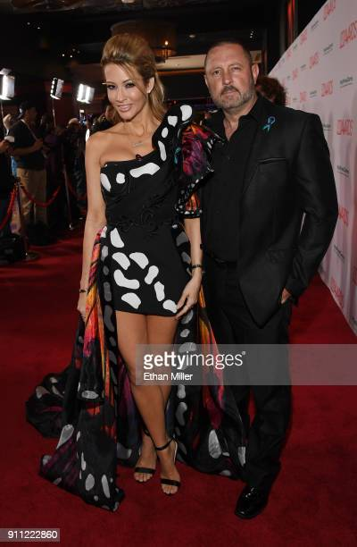 Adult film actress/director jessica drake and her husband, adult film actor/director Brad Armstrong, attend the 2018 Adult Video News Awards at the...