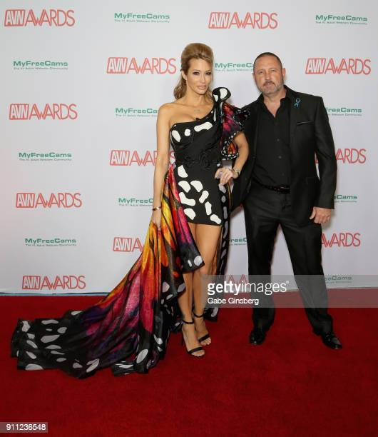 Adult film actress/director jessica drake and her husband adult film actor/director Brad Armstrong attend the 2018 Adult Video News Awards at the...