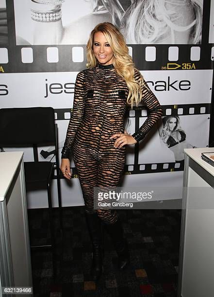 Adult film actress/director jessica drake appears at the Wicked Pictures booth during the 2017 AVN Adult Entertainment Expo at the Hard Rock Hotel &...