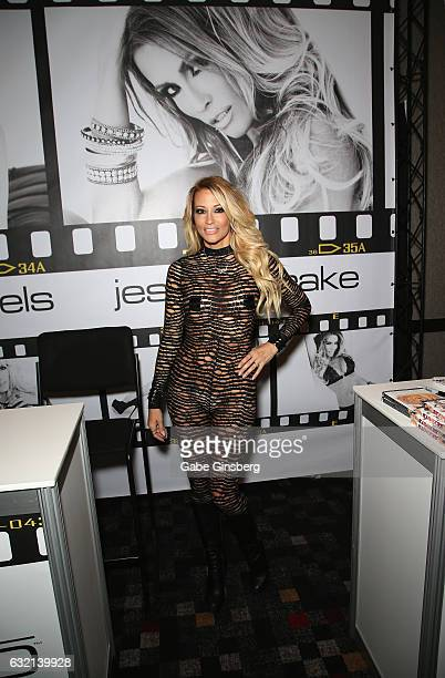 Adult film actress/director jessica drake appears at the Wicked Pictures booth during the 2017 AVN Adult Entertainment Expo at the Hard Rock Hotel...