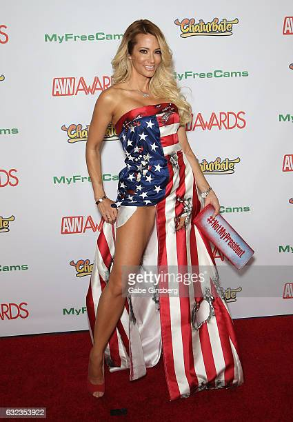 Adult film actress/director jessica drake attends the 2017 Adult Video News Awards at the Hard Rock Hotel Casino on January 21 2017 in Las Vegas...