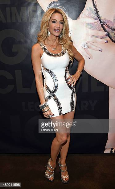 Adult film actress/director jessica drake poses at the Wicked Pictures booth at the 2015 AVN Adult Entertainment Expo at the Hard Rock Hotel Casino...