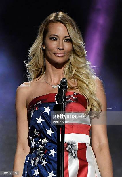 Adult film actress/director jessica drake presents an award during the 2017 Adult Video News Awards at The Joint inside the Hard Rock Hotel & Casino...