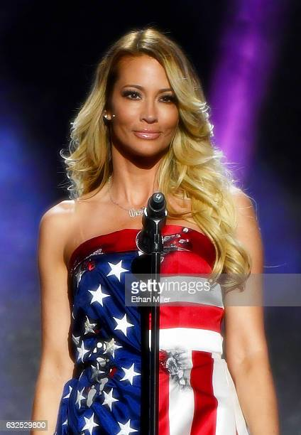 Adult film actress/director jessica drake presents an award during the 2017 Adult Video News Awards at The Joint inside the Hard Rock Hotel Casino on...
